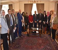 أبوالغيط يستقبل الوفد الصحفى والإعلامىالمرافق لوفد الأمانة العامة بقمة تونس