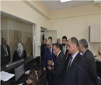 صور| افتتاح أعمال تطوير مكتب «أبحاث التزييف والتزوير» بالقليوبية