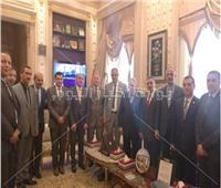 رئيس النقض يستقبل وفد القضاء العسكري