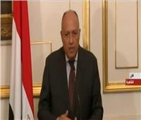 فيديو| وزير الخارجية:الوضع في ليبيا مقلق للغاية
