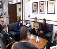 سحر نصر تبحث مع وزير الصناعة الأردنيتعزيز التعاون الاقتصادي