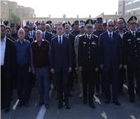 صور| وزير الداخلية يتقدم الجنازة العسكرية للشهيد ماجد عبد الرازق