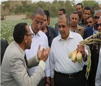 صور  وزير الزراعة ومحافظ سوهاج يتفقدان محطة البحوث الزراعية بشندويل