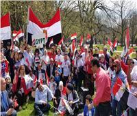 صور| الجالية المصرية في أمريكا تحتشد لدعم السيسي خلال زيارته لواشنطن