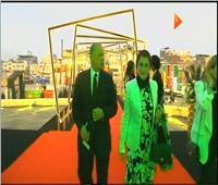 هاني أبوريدة يصل إلى مقر قرعة كأس الأمم