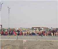 صور| إقبال كبير من جماهير الأهلي لمؤازرة المارد الأحمر أمام صن داونز