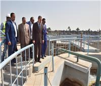 محافظ أسيوط يتفقد محطة المياه المرشحة بمركز صدفا