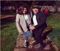 مي عمر وأحمد السقا في كواليس «ولد الغلابة»