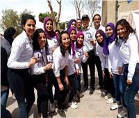 بالصور..طلاب جامعة حلوان ينظمون إيفنت «أبريل شهر التواصل»