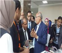صور| حسن القلا يفتتح 4 معارض و3 مسابقات فنية وهندسية بجامعة بدر