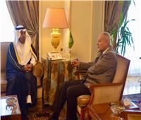 رئيس البرلمان العربي يجتمع مع الأمين العام للجامعة في القاهرة