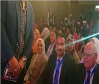 مؤتمر حاشد لتأييد المشاركة في التعديلات الدستورية بسفح أهرامات الجيزة