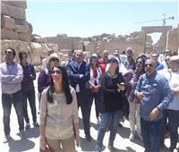 بالصور|وزير السياحة في جولة مع البرلمانيين والفنانين بمعبد الكرنك