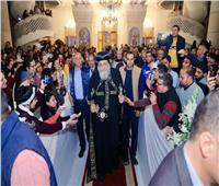 """البابا تواضروس يصلي """"جمعة ختام الصوم"""" بكرمة كينج مريوط بالإسكندرية"""