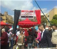 توافد المواطنين على لجان الاستفتاء بمدرسة التوفيقية بشبرا