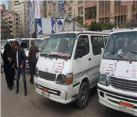 «هنوصلك مجانا لتكتب دستورك».. سيارات نقل جماعي للناخبين بالإسكندرية