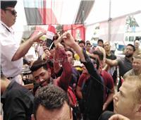 صور  المئات يحتشدون بحلوان للمشاركة في استفتاء التعديلات الدستورية