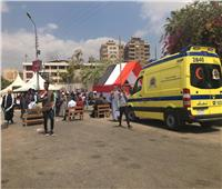 «الصحة» تدفع بسيارات إسعاف بمحيط لجان مصر الجديدة