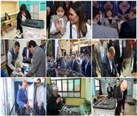 التعديلات الدستورية 2019| «ملحمة وبطولة».. وزراء في طابور الاستفتاء «صور»