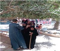 صور| سيدات أسيوط يشاركن بقوة في استفتاء التعديلات الدستورية بالقرى