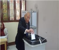 رئيس المجلس القومي لحقوق الإنسان يدلي بصوته باستفتاء التعديلات الدستورية