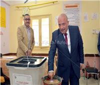التعديلات الدستورية 2019| رئيس جامعة طنطا يدلي بصوته