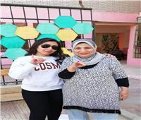 شيماء الشايب تدلى بصوتها في الاستفتاء على التعديلات الدستورية