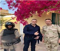 بالصور| عماد زيادة يدلي بصوته في الاستفتاء على التعديلات الدستورية