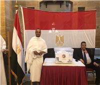 تصويت المصريين في الخارج| معتمرون يدلون بأصواتهم في جدة.. صور