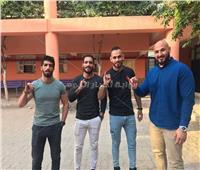 بالصور| لاعبو منتخب مصر للمصارعة الحرة يدلون بأصواتهم في الاستفتاء