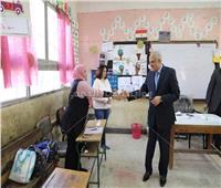 محافظ الجيزة يتفقد لجان الاستفتاء بمدرسة كفر نصار بالهرم