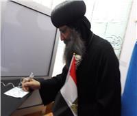 التعديلات الدستورية 2019| قساوسة الدير المحرق بأسيوط يدلون بأصواتهم