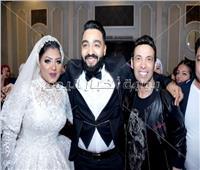 صور| سعد الصغير وشعبولا والخلعي يحتفلون بزفاف «فهد ولميس»
