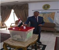 تصويت المصريين بالخارج| «المحرصاوي» يدلي بصوته بالبحرين