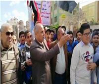 التعديلات الدستورية 2019| مسيرة تدعو المواطنين للاستفتاء بالدقهلية