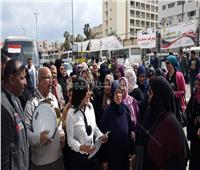 صور..إقبال كبير على اللجان الانتخابية للإستفتاء ببورسعيد