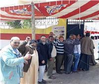 التعديلات الدستورية 2019  «الدمايطة» يواصلون الإقبال الكثيف علي اللجان الانتخابية