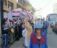التعديلات الدستورية 2019  اقبال كثيف على لجان المطرية ثاني أيام الاستفتاء