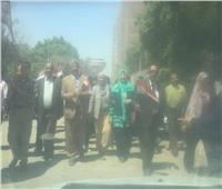 بالصور| مسيرة من المنيب لابو النمرستأييدا للتعديلات الدستورية