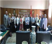 كلية الألسن بجامعة عين شمس تستقبل لجنة تطوير التعليم العالي