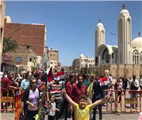 مسيرة لمطرانية الأقباط الأرثوذكس بالغردقة لحث المواطنين على المشاركة بالاستفتاء