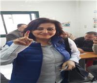 بالصور.. نائب وزير الزراعة تدلي بصوتها في الاستفتاء على التعديلات الدستورية
