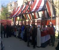 صور| استمرار إقبال سيدات الزاوية الحمراء للإدلاء بأصواتهن في الاستفتاء