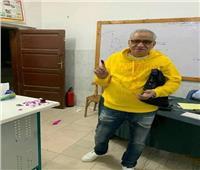 التعديلات الدستورية 2019| أحمد السبكي يدلي بصوته في الاستفتاء