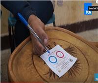 شاهد| أول سيدة تستفتي بقدمها على التعديلات الدستورية