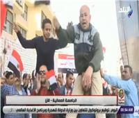 شاهد|«تحيا مصر..يحيي السيسي».. هتافات الناخبين أمام لجنة الجامعة العمالية