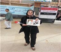التعديلات الدستورية 2019| والدة الشهيد مصطفى بدوي تشارك فى الاستفتاء بكفر الشيخ