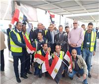 التعديلات الدستورية 2019  توافد العاملين على لجان مطار القاهرة للمشاركة في الاستفتاء