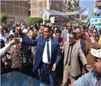 التعديلات الدستورية 2019| محافظ البحيرة يتفقد لجان الاستفتاء بحوش عيسى