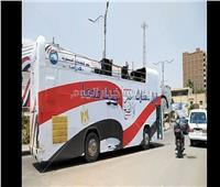 «اعمل الصح».. حافلات تجوب حلوان لحث المواطنين على المشاركة بالاستفتاء